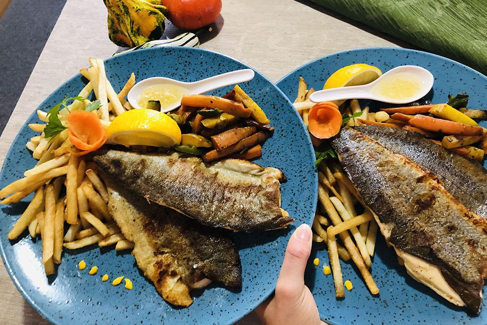 gostilna jurček ribe večerja